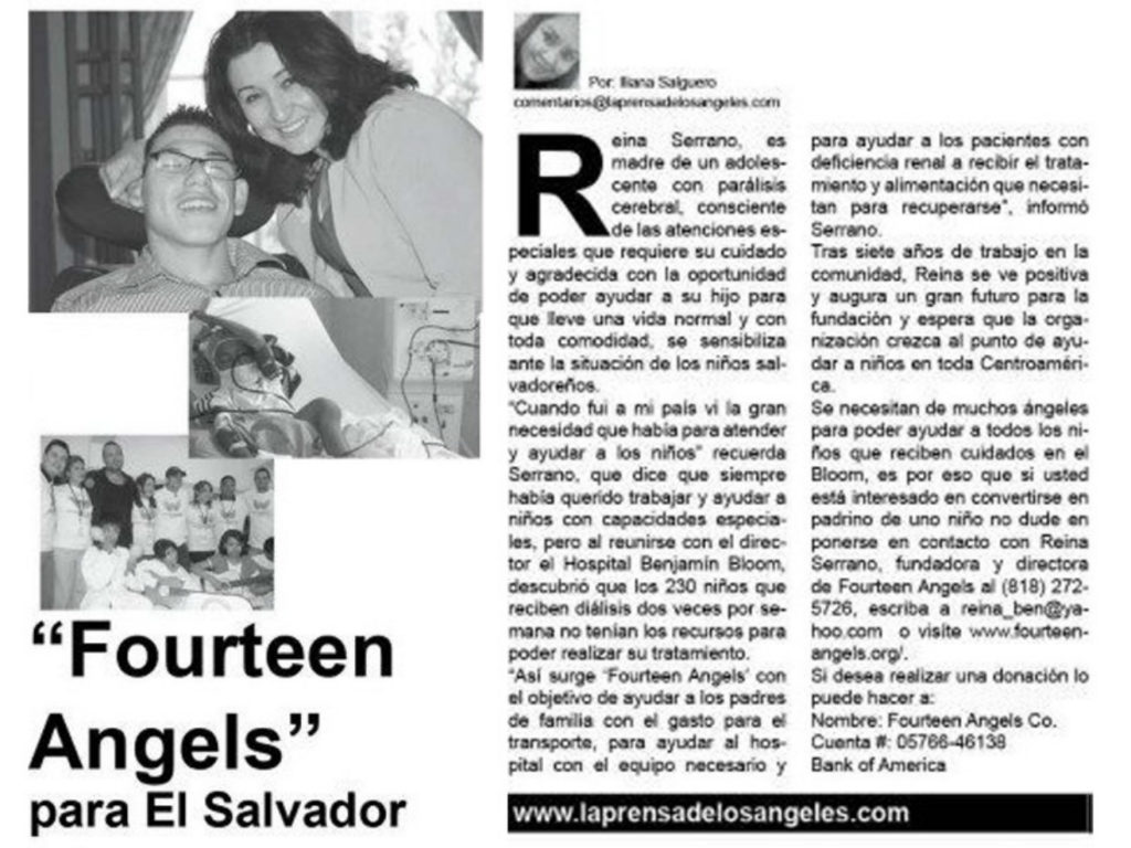 Reina Serrano Founder Fourteen Angels