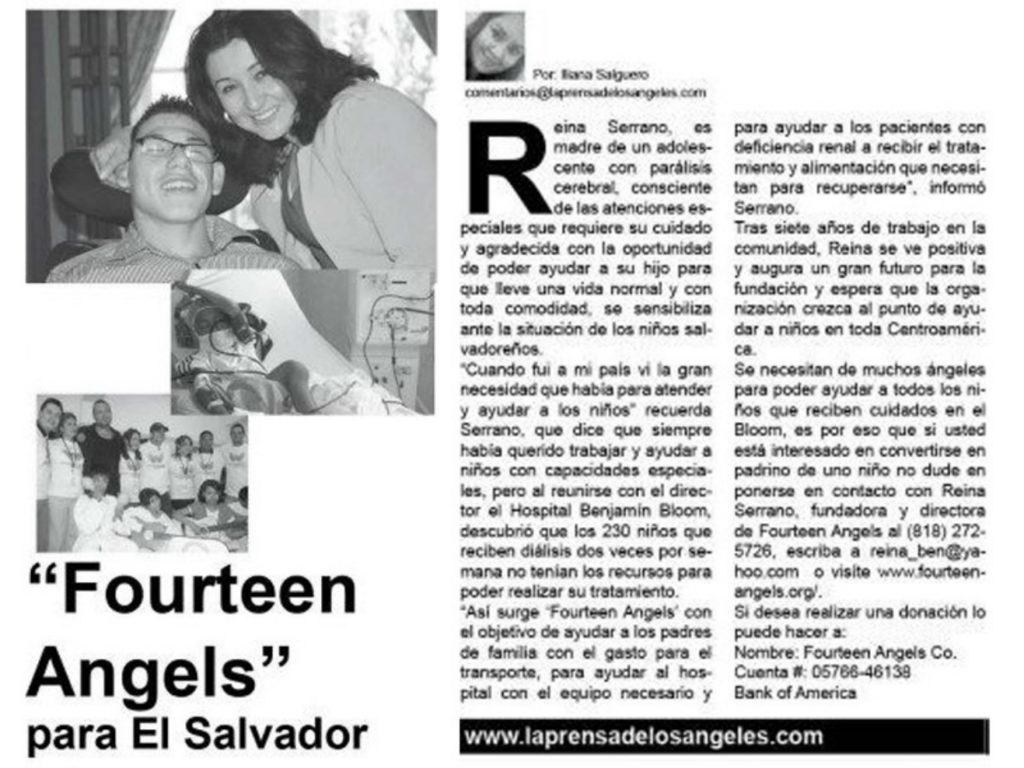Reina Serrano Founder Fourteen Angels